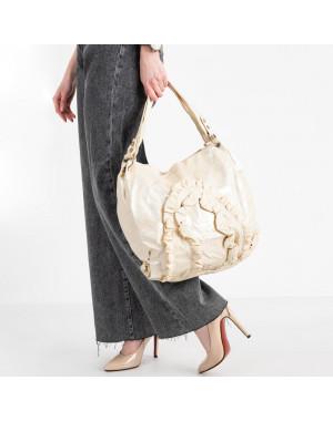 86167 бежевая сумка из эко кожи  (5 ед )