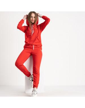 1467-21 Mishely красный женский спортивный костюм из двунитки (4 ед. размеры: S.M.L.XL)