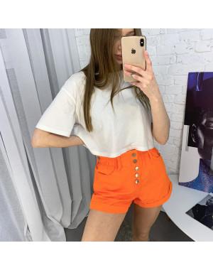 3373-3 Defile шорты джинсовые оранжевые котоновые ( 6 ед. размеры: 34.36/2.38/2.40)
