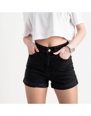 8013 шорты женские черные котоновые (8 ед. размеры: 25/2.26/3.28/2.30.32)