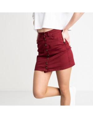 0040-11 Arox юбка джинсовая бордовая стрейчевая (6 ед. размеры: 34.36.38.40.40.40)