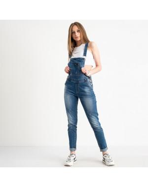 3315-1 Y Relucky комбинезон джинсовый женский синий стрейчевый ( 6 ед. размеры: 25.26.27.28.29.30)