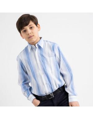 1902 Boston Public голубая рубашка в полоску на мальчика 7-15 лет (5 ед. размеры: 30/31.32/33.33/34.34/35.35/36)
