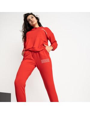 15225-7 Mishely красный женский спортивный костюм из двунитки (4 ед. размеры: S.M.L.XL)