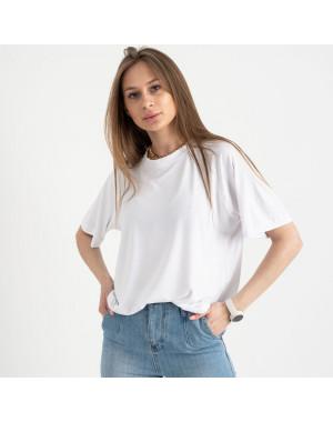 14440-2 Mishely белая футболка женская в стиле oversize (4 ед. размеры: S.M.L.XL)