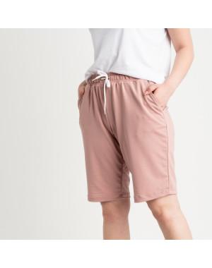 2230-7 Mishely шорты пудровые женские батальные из двунитки ( 4 ед. размеры: 50.52.54.56)
