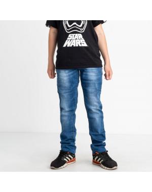 0091-3 Vingvgs джинсы юниор синие стрейчевые (7 ед. размеры: 25.26.27.28.29.30.31)