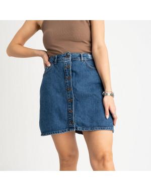 0028-054 Arox юбка полубатальная синяя котоновая (6 ед. размеры: 42.44.46.46.48.50)
