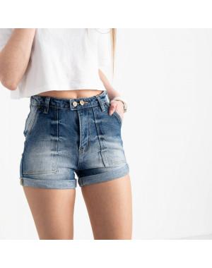 6663-5 Relucky шорты джинсовые голубые стрейчевые (6 ед. размеры: 25.26.27.28.29.30)