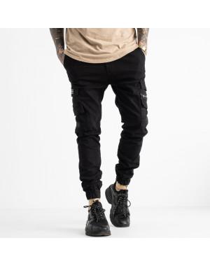 5894 Redman джинсы мужские на резинке черные осенние стрейчевые (8 ед. размеры: 29.30.31.32.32.33.34.36)