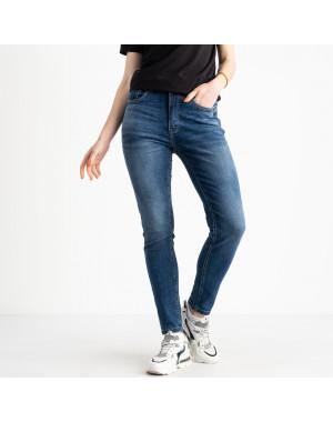 0549-8 AF Relucky джинсы полубатальные женские синие стрейчевые (6 ед. размеры: 28.29.30.31.32.33)