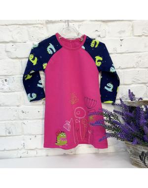 0708 платье розовое на девочку 1-3 года (3 ед. размеры: 86.92.98)