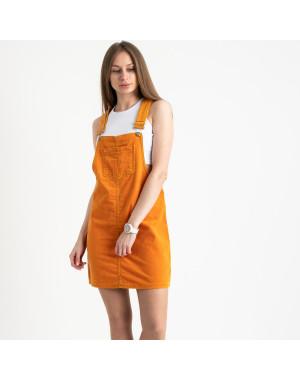 2905-5  Defile сарафан велюровый оранжевый стрейчевый ( 5 ед. размеры: 34/2.36.38.40)