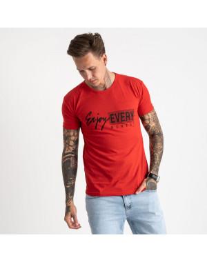 2616-3 красная футболка мужская с принтом (4 ед. размеры: M.L.XL.2XL)
