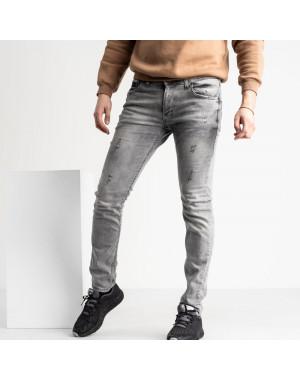 0461 Quartz джинсы мужские серые стрейчевые (8 ед. размеры: 30.31.32.32.33.34.36.38)