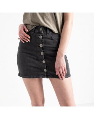 0200-5 Defile юбка на пуговицах серая котоновая (6 ед. размеры: 34.36.38.38.38.40)