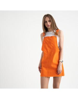 2855 Xray сарафан джинсовый оранжевый котоновый ( 6 ед. размеры: 34/2.36/2.38.40)