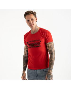 2617-3 красная футболка мужская с принтом (4 ед. размеры: M.L.XL.2XL)