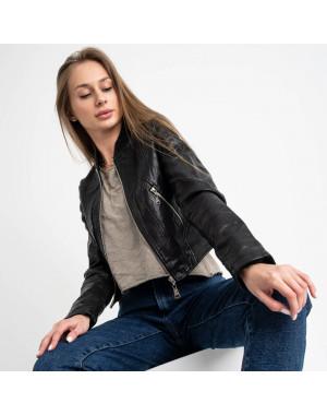 0373 куртка женская укороченная из кожзама (5 ед. размеры: S.M.L.XL.XXL)