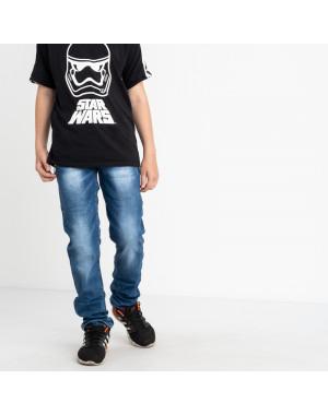 0091-6 Vingvgs джинсы юниор синие стрейчевые (7 ед. размеры: 23.24.25.26.27.28.29)