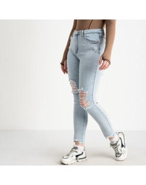 0505-1 Monkey Ride Jeans американка полубатальная голубая стрейчевая ( 6 ед. размеры: 27.28.29.30.31.32)