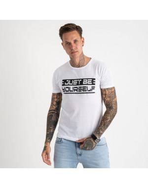 2620-10 белая футболка мужская с принтом (4 ед. размеры: M.L.XL.2XL)