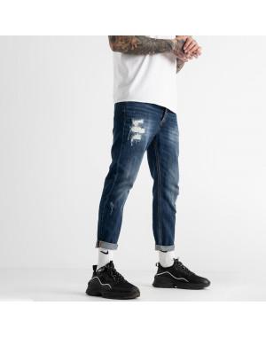 0181  мужские джинсы синие котоновые (6 ед. размеры: 30.32.32.34.34.36)