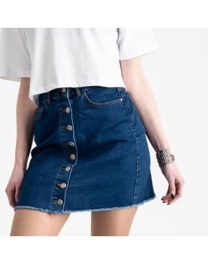 0590-Pusk Arox юбка джинсовая на пуговицах синяя  стрейчевая (4 ед. размеры: 34.36.38.40)
