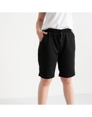 2230-1 Mishely шорты черные женские батальные из двунитки ( 4 ед. размеры: 50.52.54.56)