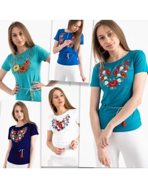 1824 футболка-вышиванка женская микс моделей и цветов (5 ед. размеры: S.M.L.XL.2XL)