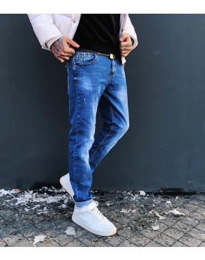 8024 Resalsa джинсы мужские молодежные с царапками весенние стрейчевые (27-2,28-2,30,33, 6 ед.)