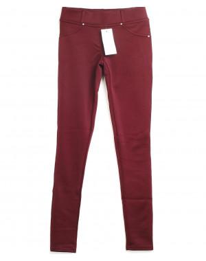 Лосины красные с карманами 0125 (42-46, 3 ед.)