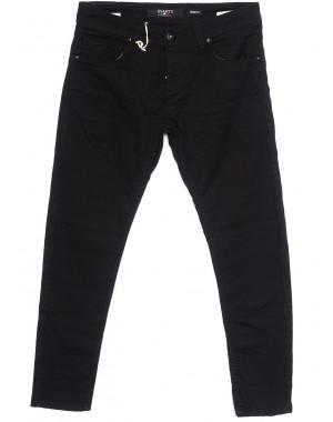 0372 Quartz чёрные (29-36, 8 ед.) джинсы мужские весенние стрейчевые