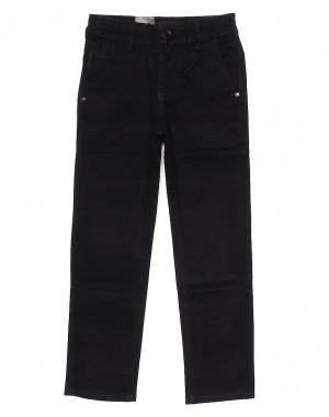 """""""Школа"""" 5047 черные LS (30-35, подросток, 6 ед.) брюки на мальчика осенние стрейчевые"""