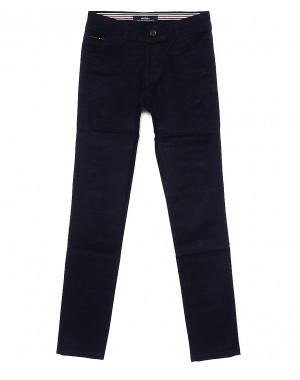 0050-5 Feerars брюки мужские молодежные с косым карманом темно-синие весенние стрейчевые (28-36, 8 ед.)