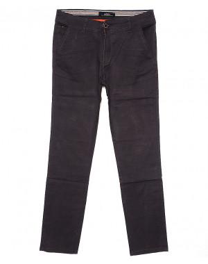 0050-6 Feerars брюки мужские молодежные с косым карманом серые весенние стрейчевые (28-36, 8 ед.)