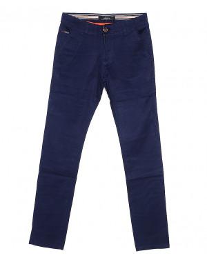0038-1 Feerars брюки мужские с косым карманом синие весенние стрейчевые (29-38, 8 ед.)