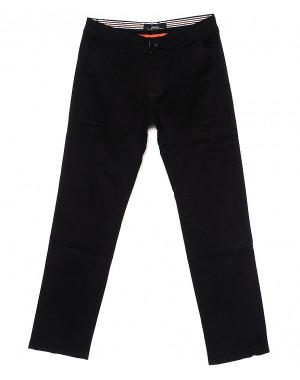0037-D-34 Feerars брюки мужские батальные с косым карманом черные весенние стрейчевые (32-42, 8 ед.)