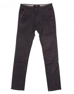 0037-6 Feerars брюки мужские с косым карманом серые весенние стрейчевые (29-38, 8 ед.)