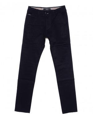0038-5 Feerars брюки мужские с косым карманом темно-синие весенние стрейчевые (29-38, 8 ед.)