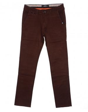 0037-31 Feerars брюки мужские с косым карманом коричневые весенние стрейчевые (29-38, 8 ед.)