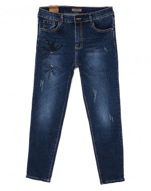 0075 Amor джинсы женские батальные с декоративной вставкой весенние стрейчевые (30-36, 6 ед.)