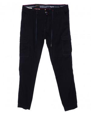 7656 (12) Regass брюки мужские батальные темно-синие на манжете с карманами весенние стрейчевые (32-40, 8 ед.)