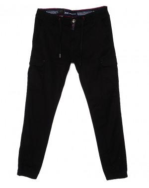 7656 (10) Regass брюки мужские батальные на манжете с карманами весенние стрейчевые (32-40, 8 ед.)