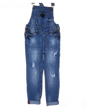 A 0333-10 Relucky комбинезон-джинсы женский с царапками стрейч-котон (25-30, 6 ед.)