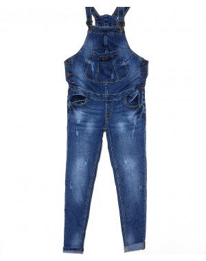 A 0338-10 Relucky комбинезон-джинсы для беременных с царапками стрейч-котон (26-31, 6 ед.)