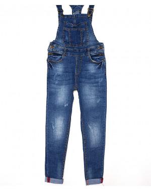 A 0329-8 Relucky комбинезон-джинсы женский с царапками стрейч-котон (25-30, 6 ед.)