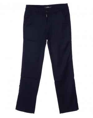 0368-3 Disvocas брюки мужские темно-синие батальные с косым карманом весенние стрейчевые (32-42, 8 ед.)