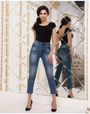 B 0887-9 Diamond джинсы женские с царапками весенние стрейчевые (25-30, 6 ед.)