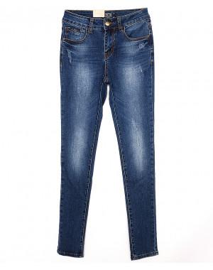 0222 Ju&Ju джинсы женские зауженные с царапками весенние стрейчевые (25-30, 6 ед.)